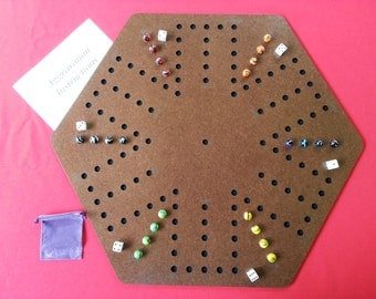 Wahoo or Aggravation 6 player game board