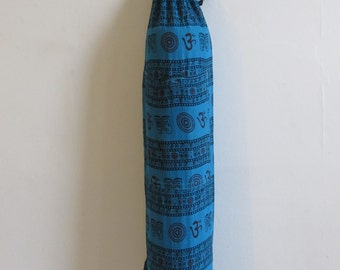Yoga Mat Bag Pilates Mat Bag Cotton Om Ohm Aum handmade Block print Light weight