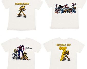 Transformers shirt onesie bumblebee shirt customized shirt you choose