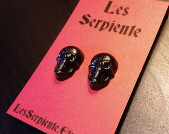 Black Skull Stud Earrings