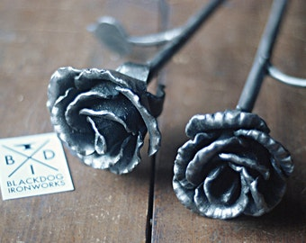 Everlasting Rose, Hand Forged Steel Rose,