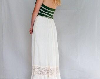 Vintage 70's Gunne Sax Prairie Maxi Skirt, Boho Prairie Maxi Skirt , Jessica's Gunnies San Francisco - NOS Made in USA