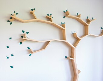 Tree Leaves Wall Decal Set for Tree Shelves