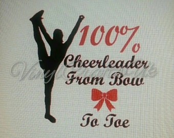 100% Cheerleader decal