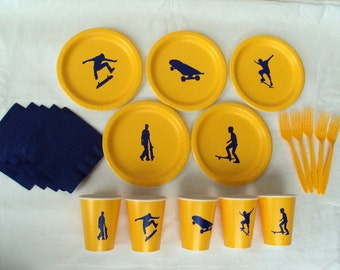 Skateboard Party Tableware