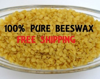 Organic Pure Yellow Beeswax Pellets - Pastilles - FREE SHIPPING - Candlemaking - Body Care Products