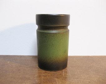 Vintage Green Handmade Ceramic Pottery Vase