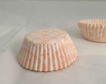 Orange Butterfly cupcake baking liners #30