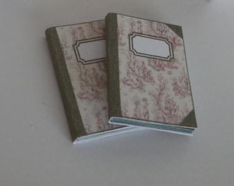 1:12 DOLLHOUSE  Notebook, toile de jouy