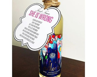 WINE BOTTLE TAG: Firsts - Wedding/Bridal Shower Gift