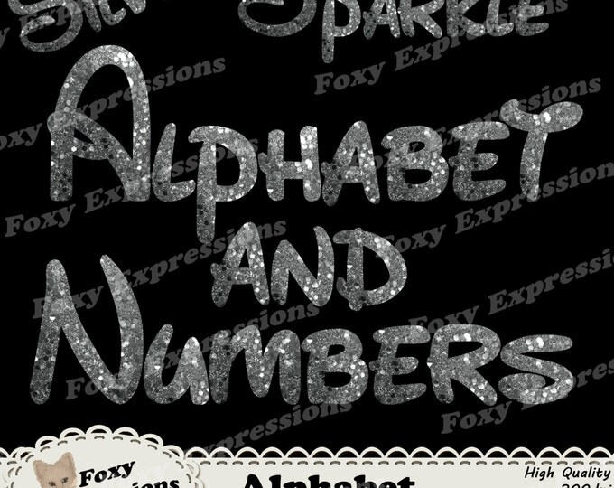 Sparkle Alphabet letters and numbers pack comes in silver to put a little sparkle on any project. 94 pieces. Comes with punctuations.