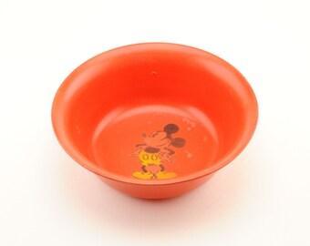 Vintage Red Mickey Mouse Beetleware Bowl