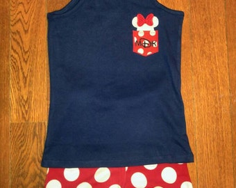 Minnie Mouse Forth of July Outfit