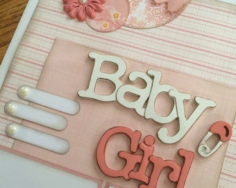 Scrapbook Page Kit titled Baby Girl