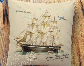 """Ship in St. Ives Harbour, England 