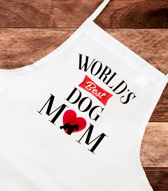 BBQ Apron, Dog Mom, Dog Dad, Dog Lover, Cooking Apron, Animal Rescue, Baking, Cook, Chef, Mother's Day, Father's Day, Grandparent's Day Gift