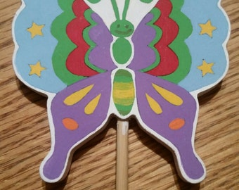 Butterfly wooden wand