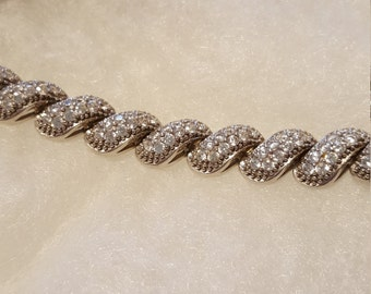 Diamonique san marco bracelet in sterling silver.FREE SHIPPING
