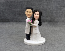 Custom wedding cake topper, personalized cake topper, Bride and groom cake topper, Mr and Mrs cake topper,Lab, doctor, nurse,rustic  topper