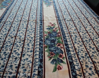 French vintage cotton table cloth set (02452)