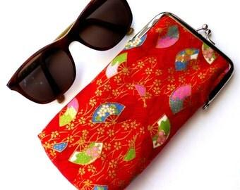 Glasses case, sunglasses case, Japanese fans case, protective case, Japanese case, designer case, clasped case, fabric case, glasses purse