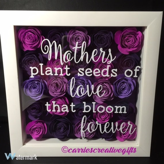 Items Similar To Mother S Day Hand Rolled 3d Flower Shadow