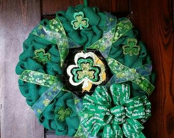 St. Patrick's Day Shamrock Wreath