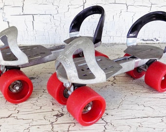 Super Skates, Roller Skates, With Red Wheels, Mid Century, Sports Collectible