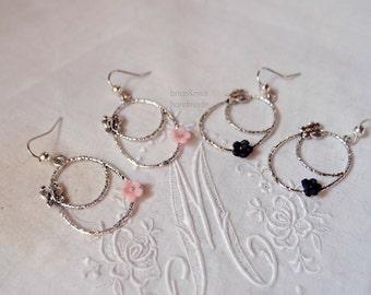 Hoop Earrings-Butterfly earrings-Spring Jewellery-Butterfly earrings-jewelry made in Italy-Produzinone Italiana