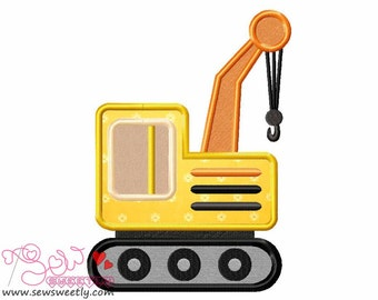 Construction Truck-3 Applique Design.