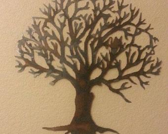 Metal tree - metal art - home decor - wall art