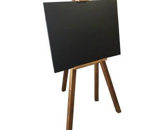 Wooden Plinth Easel & A2 Chalkboard. Blackboard.