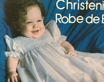 Vintage Rainbow Hill Sew Pattern For Smocking Art Christening Dress Size 6-18 Months, No 17 - 9080