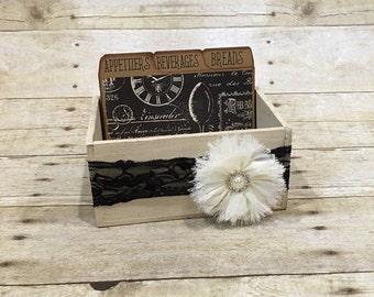 Wood Recipe Box, Vintage Recipe Box
