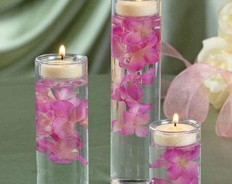 3 Piece Floating Hydrangea Candle Centerpiece