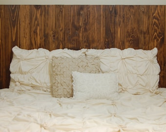 Barn Walls Queen Headboard - Honey Stain. Hang on the wall like picture frames. Easy Installation