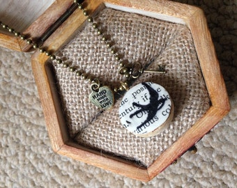 Swallow wine cork necklace