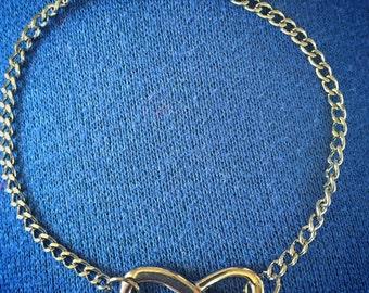 Hematite infinity chain bracelet