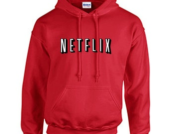 Netflix Hoodie Sweatshirt Funny Movie Night Hoodie Netflix and Chill Tee Hooded Sweatshirt
