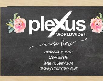 The Best Seller Plexus Chalkboard Floral Business Card DIGITAL FILE
