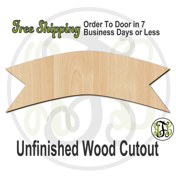 Plaque Banner - 40021- Cutout, unfinished, wood cutout, wood craft, laser cut shape, wood cut out, DIY, Free Shipping