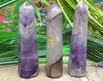 One (1) Amethyst Obelisk Points ~ Crystal Tower, Amethyst Tower ~ for Crystal Healing, Reiki Healing, Energy Balancing and Crystal Grid