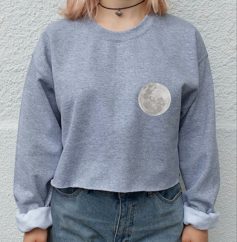 Moon Lovers Tumblr crop top sweater hipster shirt tumblr