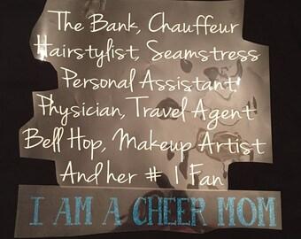 Iron On Cheer Mom  Decals / iron on cheer mom / cheer mom / cheer mom decal