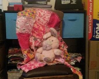 Pretty in Pink Mini Rag Quilt