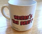 "Vintage Wendy's ""Where's the Beef?"" Mug"