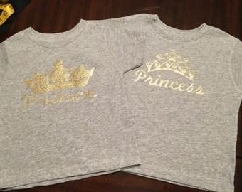 Sale!! Prince or Princess Fancy Crown Toddler TEE