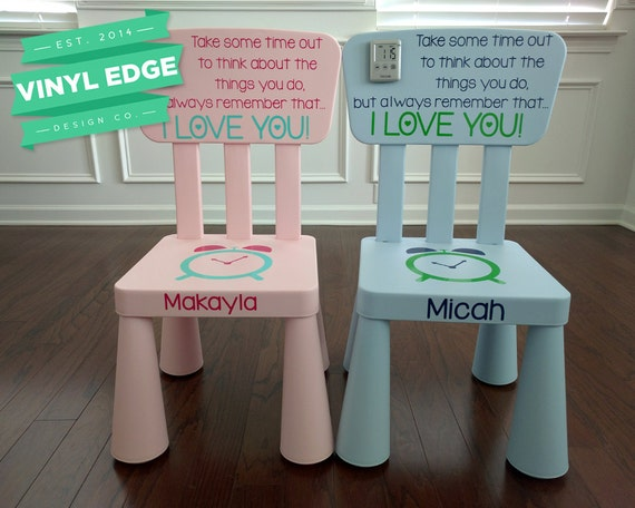 Personalized Timeout Chair Custom Kids Time Out Chair Boy