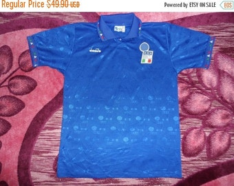 Sale Stock Clearance vintage diadora italy jersey home roberto baggio 94 world cup football soccer t shirt