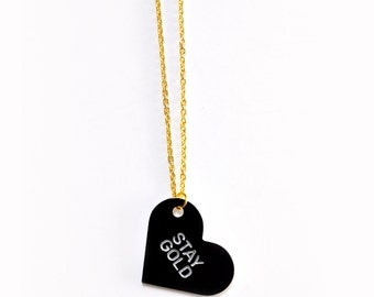 Stay Gold Pendant Necklace